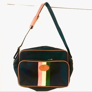 Carry On Crossbody Striped Computer Briefcase